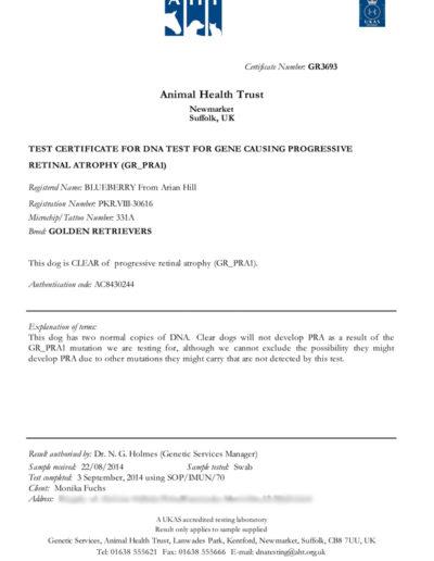 Dog Disease Testing